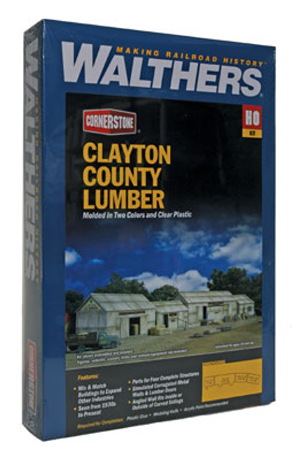 2911 Walthers Clayton County Lumber (Scale=HO) Cornerstone Part#933-2911