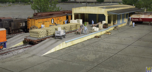 2918 Walthers Open Air Transload Building (Scale=HO) Cornerstone Part#933-2918