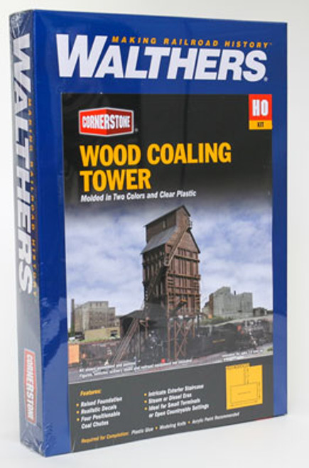 2922 Walthers Wood Coaling Tower (Scale=HO) Cornerstone Part#933-2922