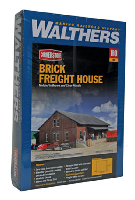 2954 Walthers Brick Freight House (Scale=HO) Cornerstone Part#933-2954