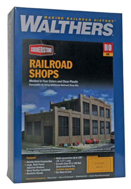 2970 Walthers Railroad Shop (Scale=HO) Cornerstone Part#933-2970