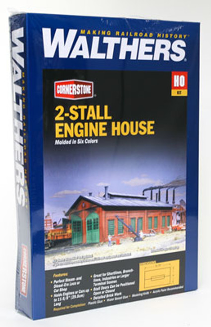 3007 Walthers  2-Stall Enginehouse (Scale=HO) Cornerstone Part#933-3007
