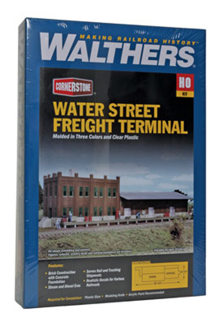 3009 Walthers Water Street Freight Terminal (Scale=HO) Cornerstone Part#933-3009