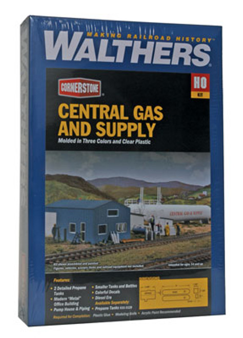 3011 Walthers Central Gas & Supply (Scale=HO) Cornerstone Part#933-3011