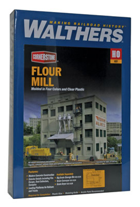 3026 Walthers  Flour Mill (Scale=HO) Cornerstone Part#933-3026