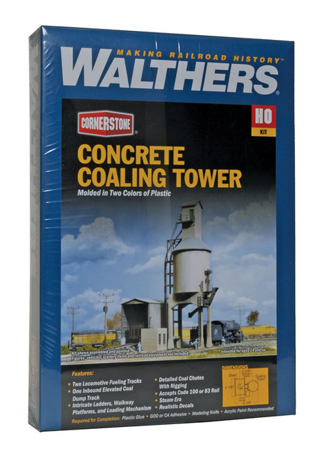 3042 Walthers Coaling Tower Concrete (Scale=HO) Cornerstone Part#933-3042