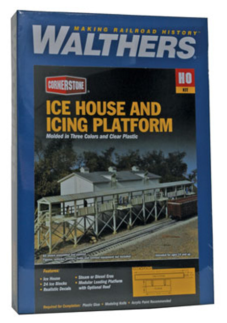 3049 Walthers Icehouse and platform (Scale=HO) Cornerstone Part#933-3049