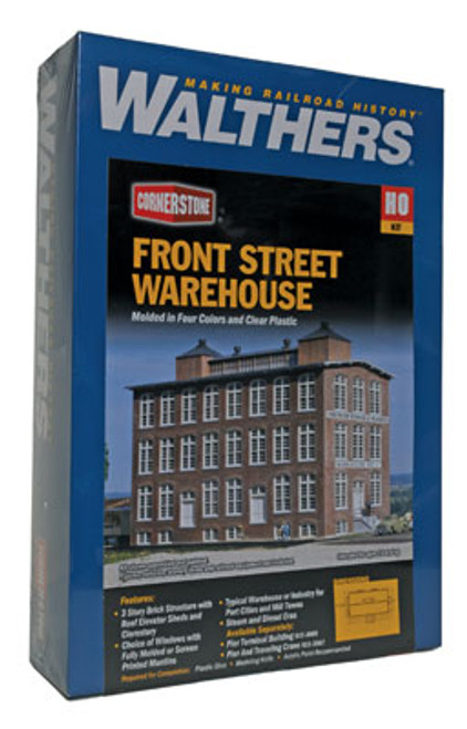 3069 Walthers Front Street Warehouse (Scale=HO) Cornerstone Part#933-3069