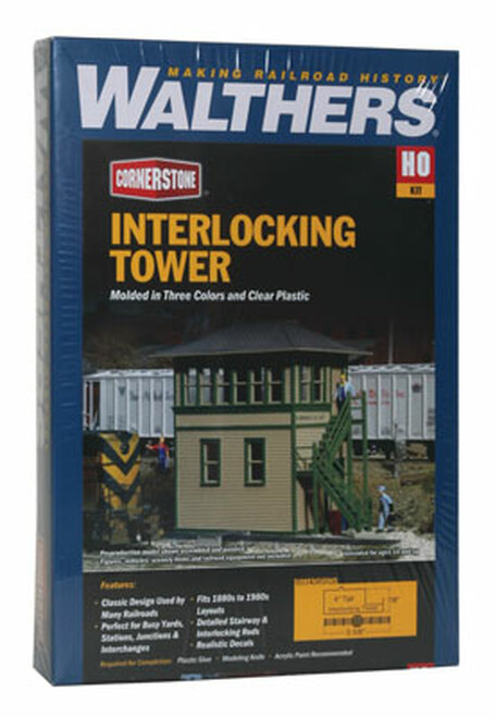 3071 Walthers Interlocking Tower (Scale=HO) Cornerstone Part#933-3071