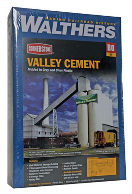 3098 Walthers Valley Cement Plant Kit (Scale=HO) Cornerstone Part#933-3098