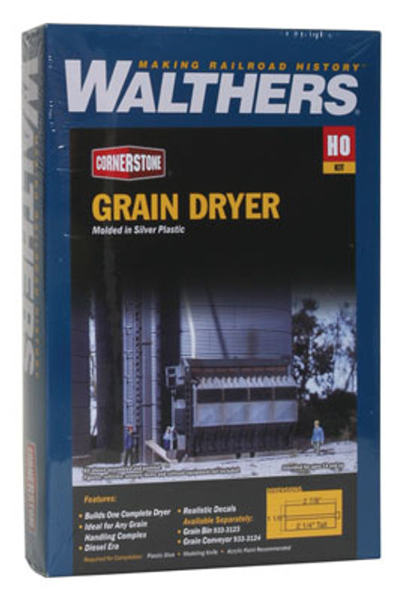 3128 Walthers Grain Dryer (Scale=HO) Cornerstone Part#933-3128