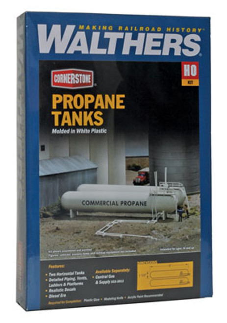 3129 Walthers LP Propane /ammonia storage tanks (Scale=HO) Cornerstone Part#933-3129