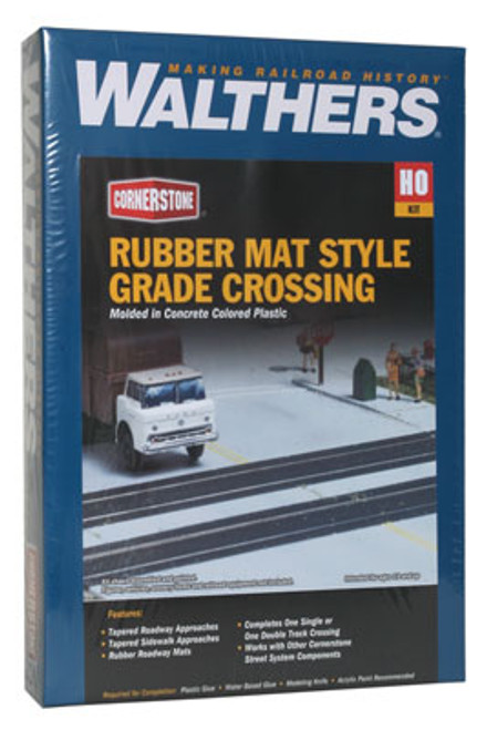 3137 Walthers Grade Crossing Rubber Mat(Scale=HO) Cornerstone Part#933-3137 Grade Crossing Rubber Mat