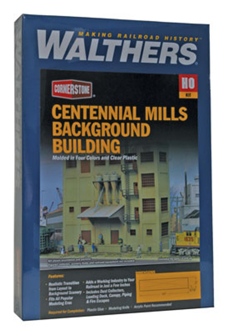 3160 Walthers Centennial Mills Background Building (Scale=HO) Cornerstone Part#933-3160