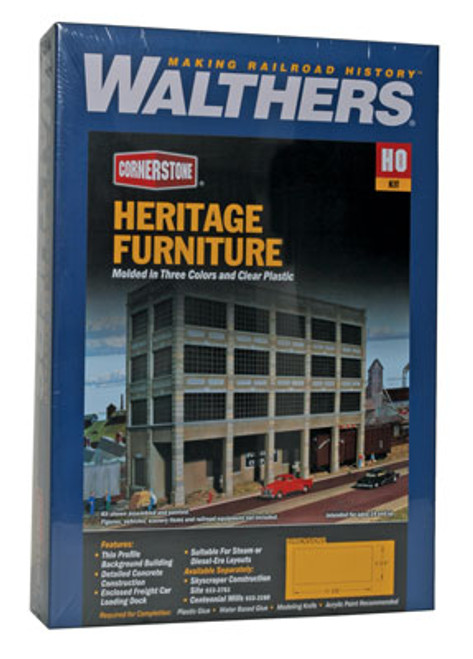 3164 Walthers Heritage Furniture Background Building (Scale=HO) Cornerstone Part#933-3164