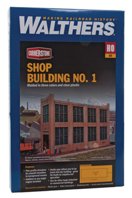 3165 Walthers Shop Building No.1 Background Building (Scale=HO) Cornerstone Part#933-3165