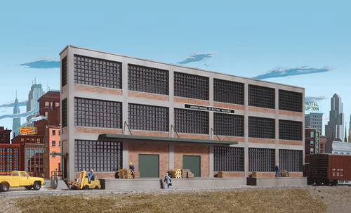 3172  Walthers Armstrong Electric Motors Background Building (Scale=HO) Cornerstone Part#933-3172
