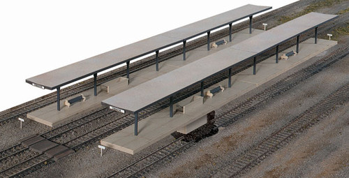 3175 Walthers Butterfly Style Station Platform Shelter 4/ (Scale=HO) Cornerstone Part#933-3175