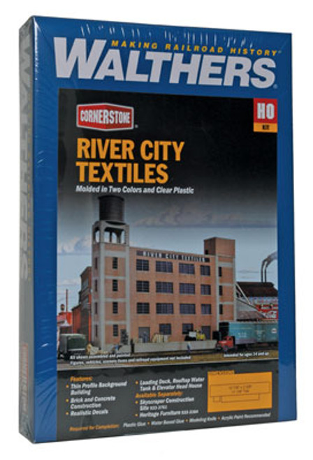 3178 Walthers  River City Textiles Background Building (Scale=HO) Cornerstone Part#933-3178