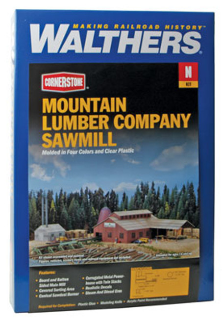 3236 Walthers Mountain Lmbr Co. Sawmill (N Scale) Cornerstone Part# 933-3236