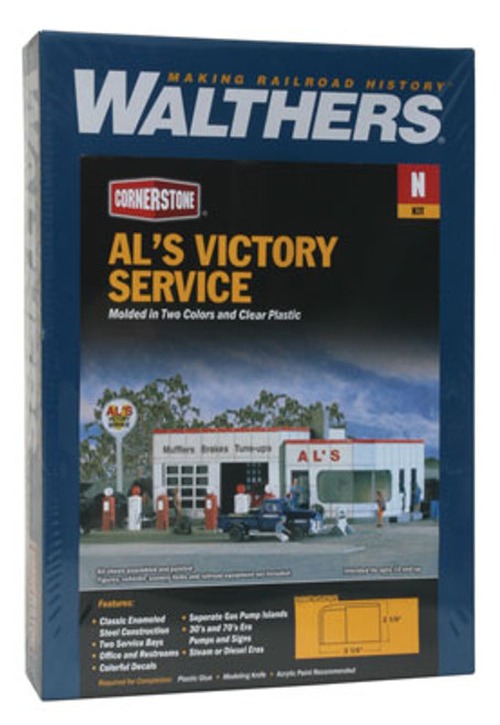 3243 Walthers Al's Victory Service (N Scale) Cornerstone Part# 933-3243