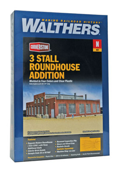 3261 Walthers  Modern Rndhs Add-On Stall (N Scale) Cornerstone Part# 933-3261