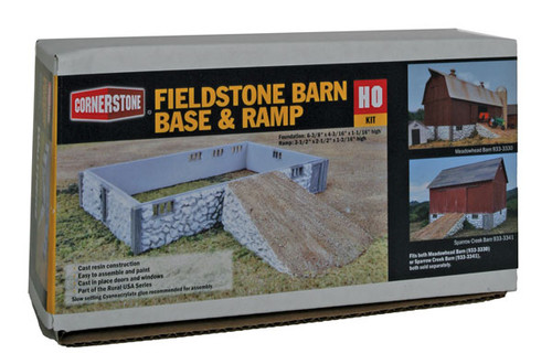 3331 Walthers  Rural Fieldstone Barn Base & Ramp (Scale=HO) Cornerstone Part#933-3131