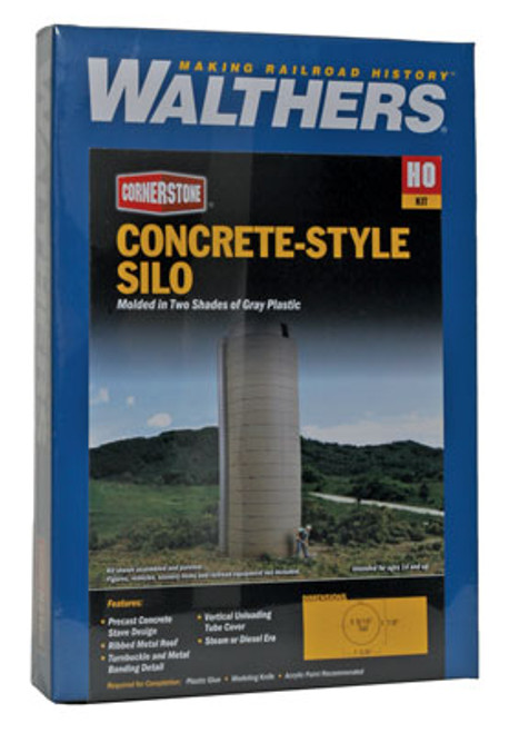 3332 Walthers Rural Concrete-Style Silo (Scale=HO) Cornerstone Part#933-3132
