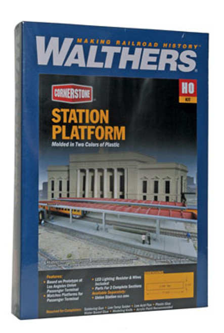 3391 Walthers Station Platforms 2/ (Scale=HO) Cornerstone Part#933-3391
