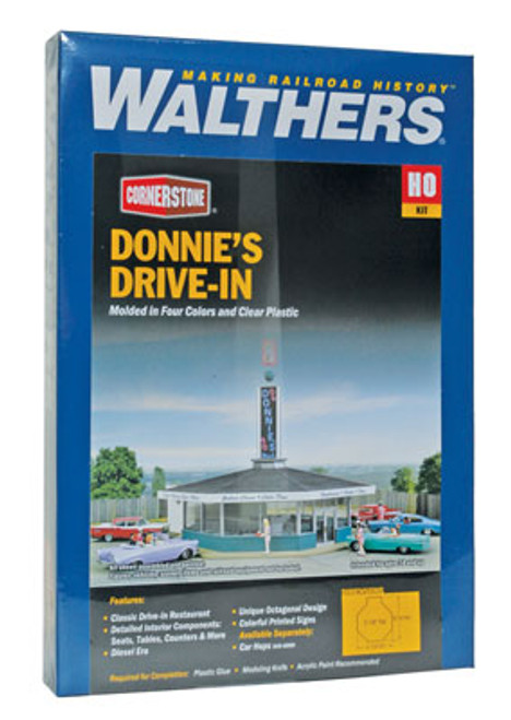 3474 Walthers Donnie's Drive-In (Scale=HO) Cornerstone Part#933-3474