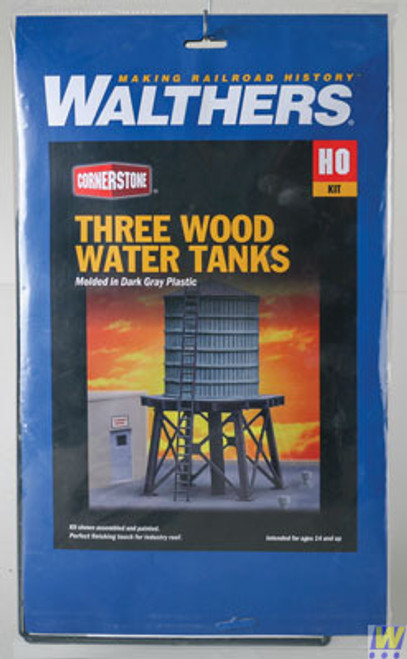 Walthers 933-3507-WOODEN-WATER-TANKS-3  (Scale=HO) Cornerstone Part#933-3507