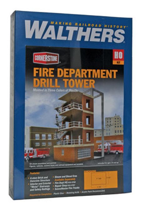 Walthers 933-3766 FIRE DEPT DRILL TOWER  (Scale=HO) Cornerstone Part#933-3766