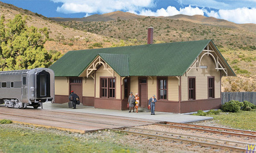 Walthers 933-4057-UP-STYLE-DEPOT  (Scale=HO) Cornerstone Part#933-4057