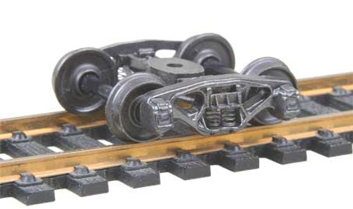500 Kadee / Bettendorf 50-Ton Trucks Metal Fully Sprung Equalized Trucks 1 pair /  (HO Scale) Part # 380-500