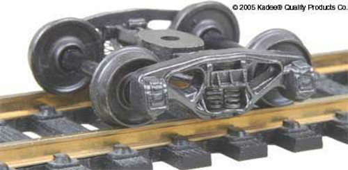 550 Kadee / Bettendorf 50-Ton Trucks Metal Fully Sprung Equalized Self Centering Trucks 1 pair (HO Scale) Part # 380-550