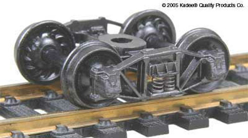 551 Kadee / Arch Bar Trucks Metal Fully Sprung Equalized Self Centering Trucks 1 pair (HO Scale) Part # 380-551