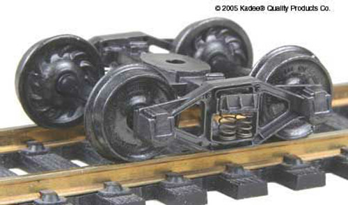 554 Kadee / Bettendorf T-Section Trucks Metal Fully Sprung Equalized Self Centering Trucks 1 Pair (HO Scale) Part # 380-554