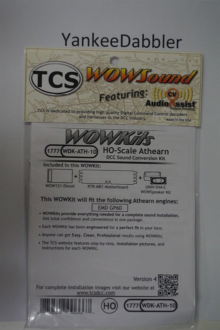 1777 TCS TRAIN CONTROL SYSTEM /  Athern {WOW WDK-ATH-10} DIESEL Version 4 CONVERSION KIT - HO Scale  YankeeDabbler Part # TCS-1777