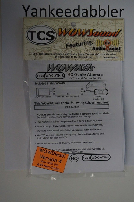 1754 TCS TRAIN CONTROL SYSTEM /  Athern {WOW WDK-ATH-8} DIESEL Version 4 CONVERSION KIT - HO Scale  YankeeDabbler Part # 745-1754