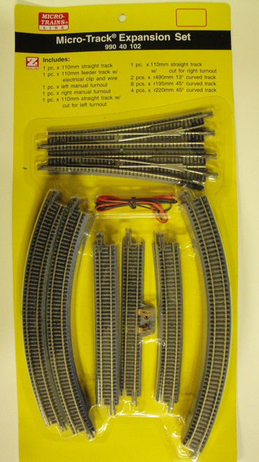 99040102 MICRO TRAINS /  {99040102} Micro Track Expansion Set  (SCALE=Z)  YANKEEDABBLER  PART #  = 489-99040102