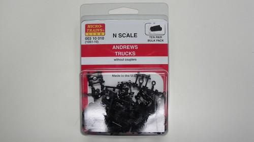 310010 MICRO TRAINS / {003 10 010} ANDREWS TRUCKS (1051-10)  (SCALE=N)    - YANKEEDABBLER  PART #  = 489-310010