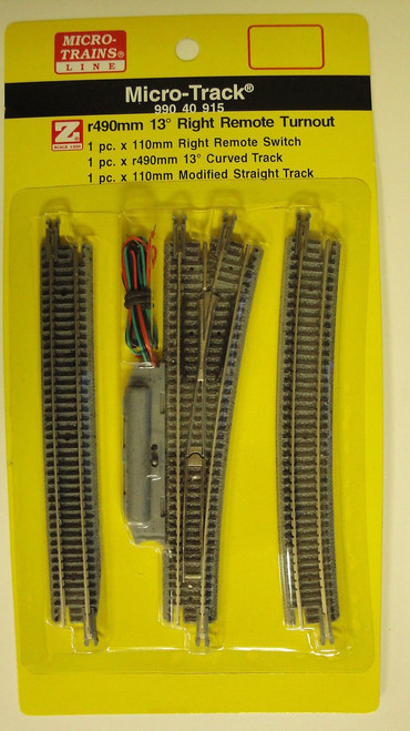 99040915 MICRO TRAINS / {99040915} 13-Degree Right  Remote Turnout   (SCALE=Z)  YANKEEDABBLER  PART #  = 489-99040915