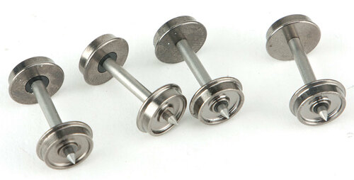 "33"" Turned Metal Wheelsets -- With Metal Axles pkg(100)"