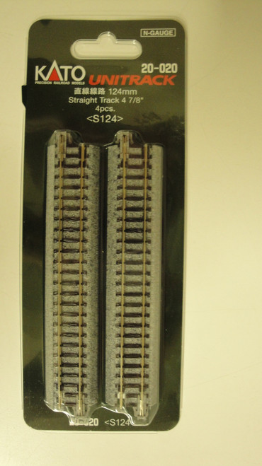 20020 Kato USA Inc / Track straight 124mm   4/  (SCALE=N)  Part # 381-20020