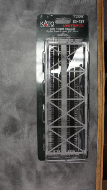 "20437 Kato USA Inc / 248mm (9 3/4"") Double Track Truss Bridge, Silver  (SCALE=N)  Part # 381-20437"
