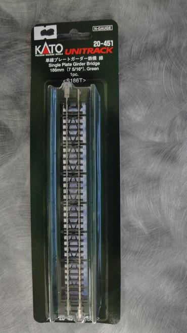 "20451 Kato USA Inc / 186mm (7 5/16"") Single Track Plate Girder Bridge, Green  (SCALE=N)  Part # 381-20451"