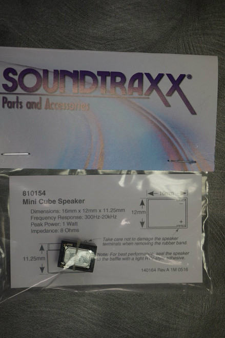 810154 Soundtraxx /  15mm x 12mm x 11.5mm Mini Cube (SCALE=ALL) Part # = 678-810154