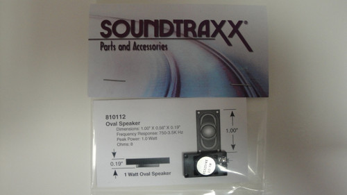 810112 Soundtraxx /  25mm x 14mm Oval, 8 Ohm Speake (SCALE=ALL) Part # = 678-810112