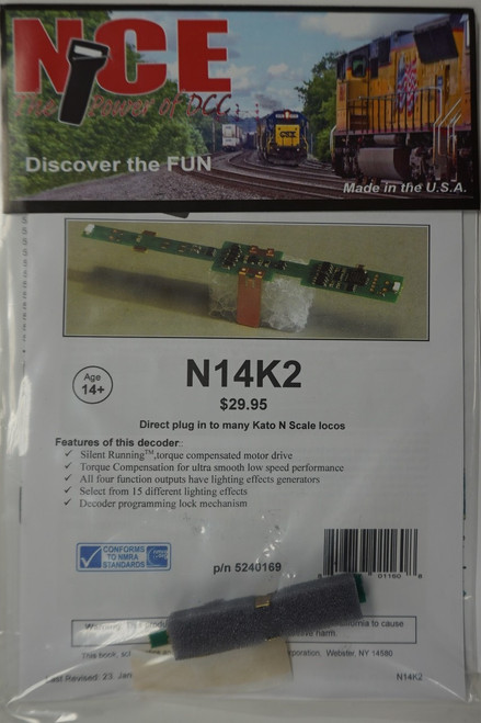 169 NCE - Kato N Scale Decoder Part # 524-169