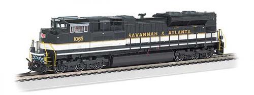 Bachmann 66009 / EMD SD70ACe - Sound & DCC -working Ditch Lights- Norfolk Southern #1065 (Savannah & Atlanta Heritage, black, white) HO Scale Part #  =     160-66009